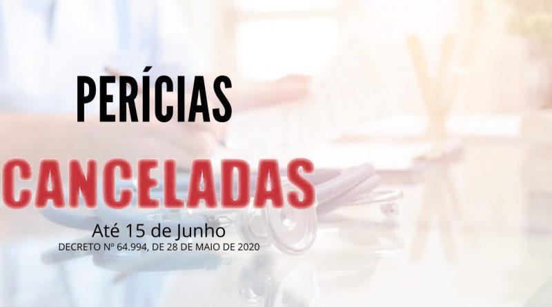 Perícias, exames e coletas continuam suspensos até o dia 15 de junho